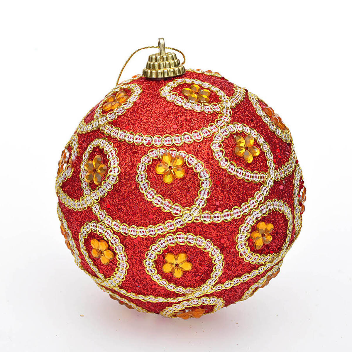 Decorative Christmas Ball Ornaments: New 8CM Christmas Decor Luxury Round Christmas Balls