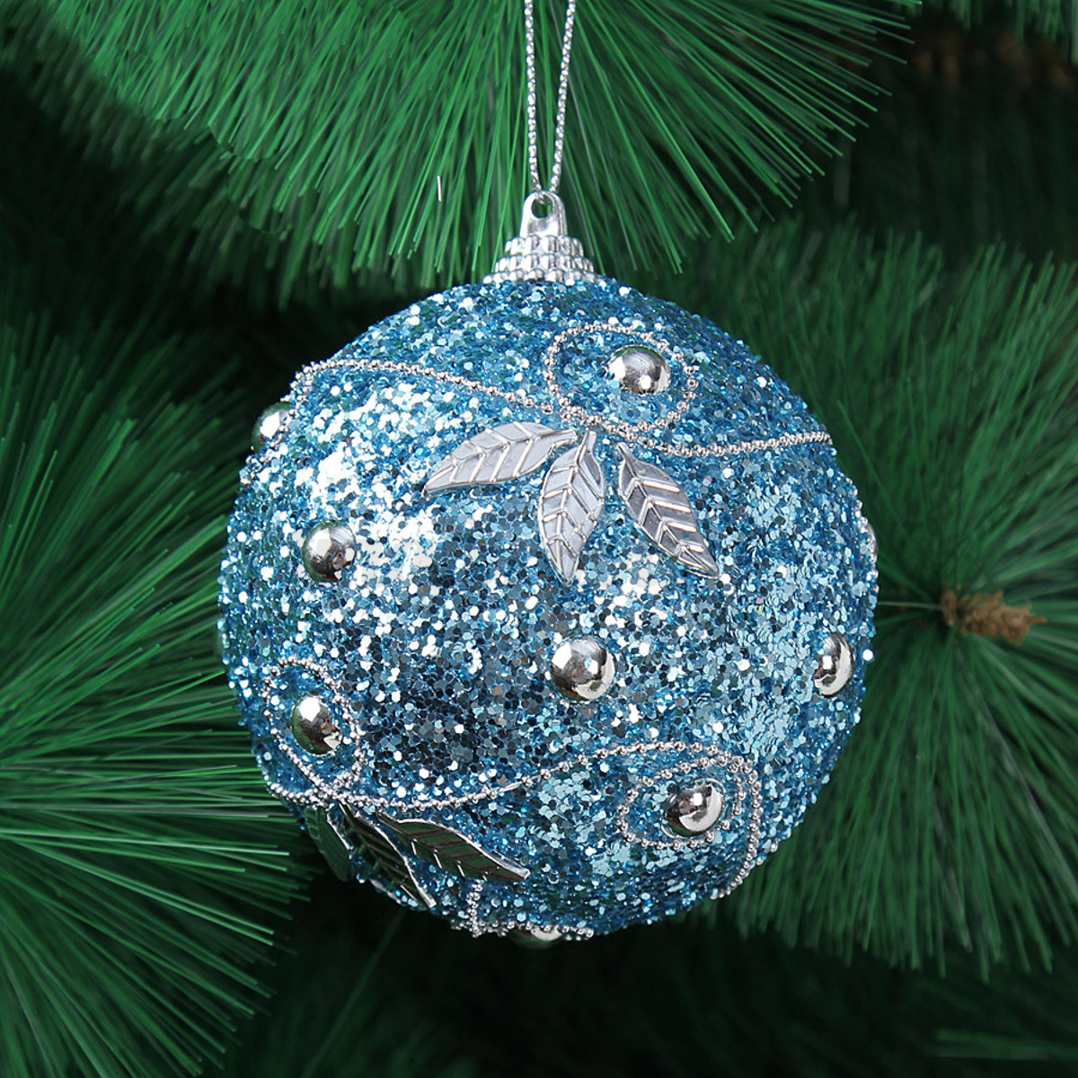 8cm balls rhinestone baubles glitter party christmas xmas for B q christmas decorations