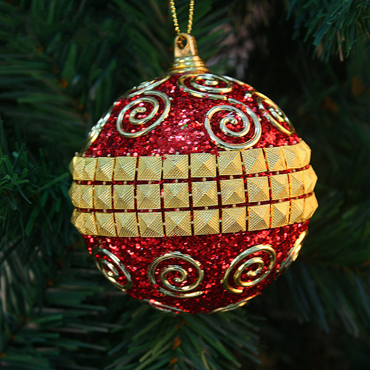 Decorated Christmas Balls: New 8CM Christmas Decor Luxury Round Christmas Balls