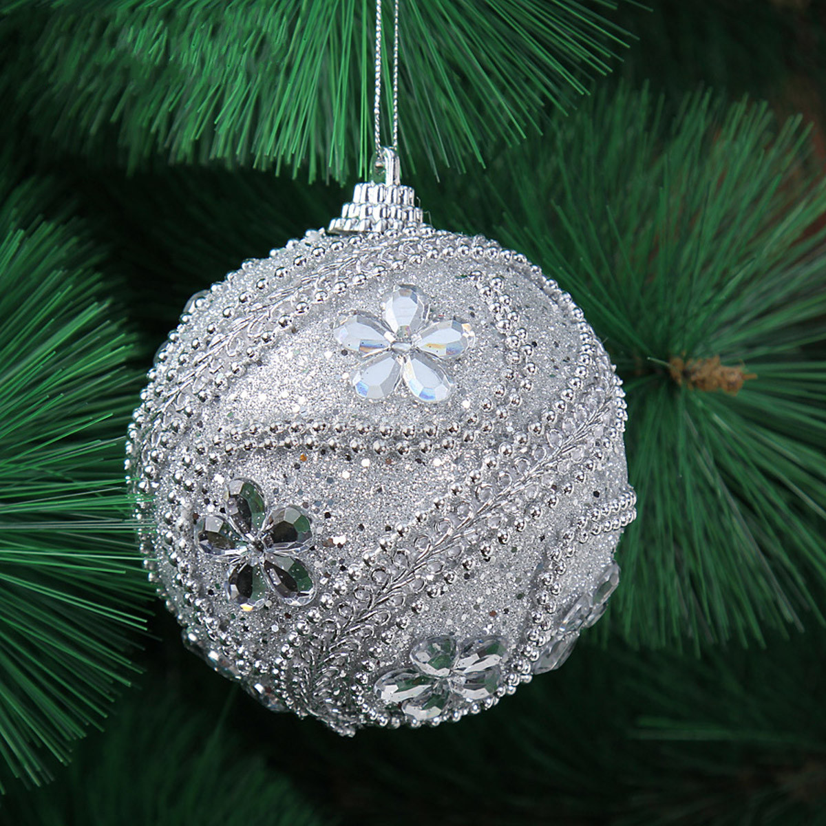 Luxurious Christmas Trees: New 8CM Christmas Decor Luxury Round Christmas Balls