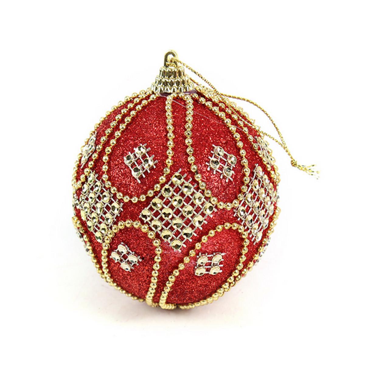 Rhinestone Baubles Foam Ball Glitter Christmas XMAS Tree