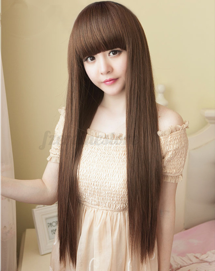 Womens Long Brazilian Straight Natural Remy Fancy Dress ...