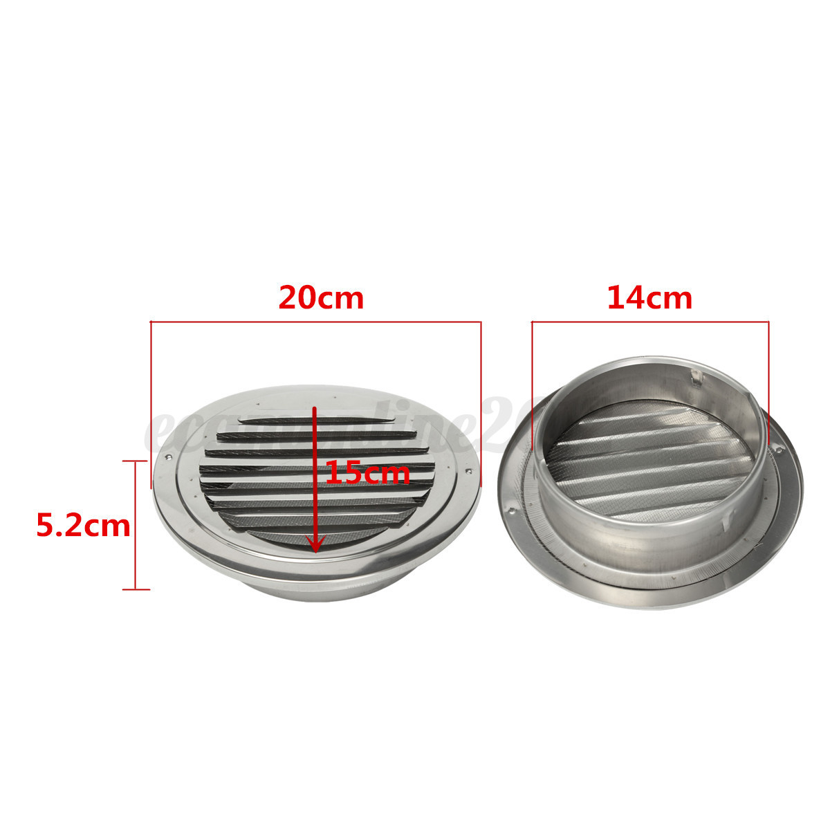 wall mount circular stainless steel ventilation air vent grille cover 100 150mm ebay. Black Bedroom Furniture Sets. Home Design Ideas