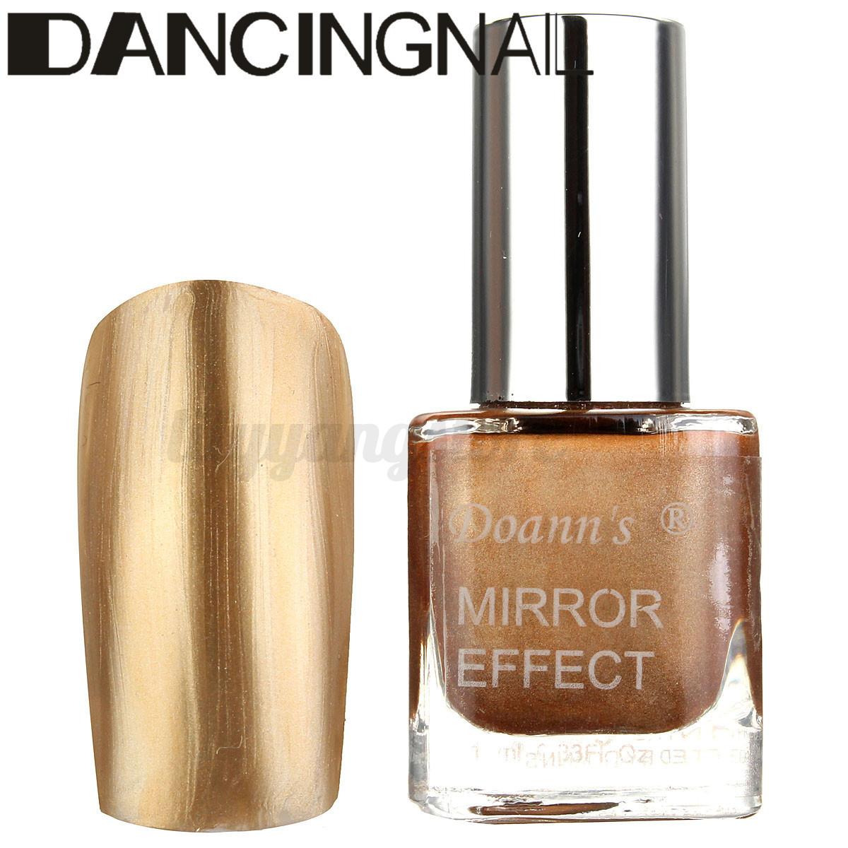 Mirror Effect Gel Nail Polish: 10ML Nail Art Shiny Glitter Mirror Effect Gel Polish Sand