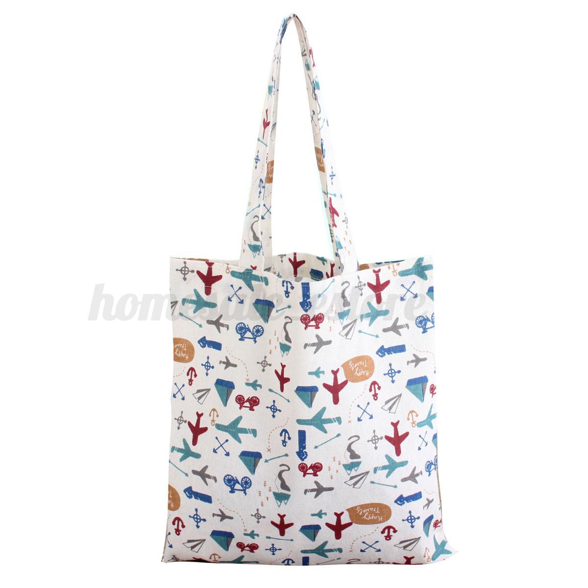 Fashion Women Canvas Shoulder Large Shopping Bag Beach Satchel School Handbag