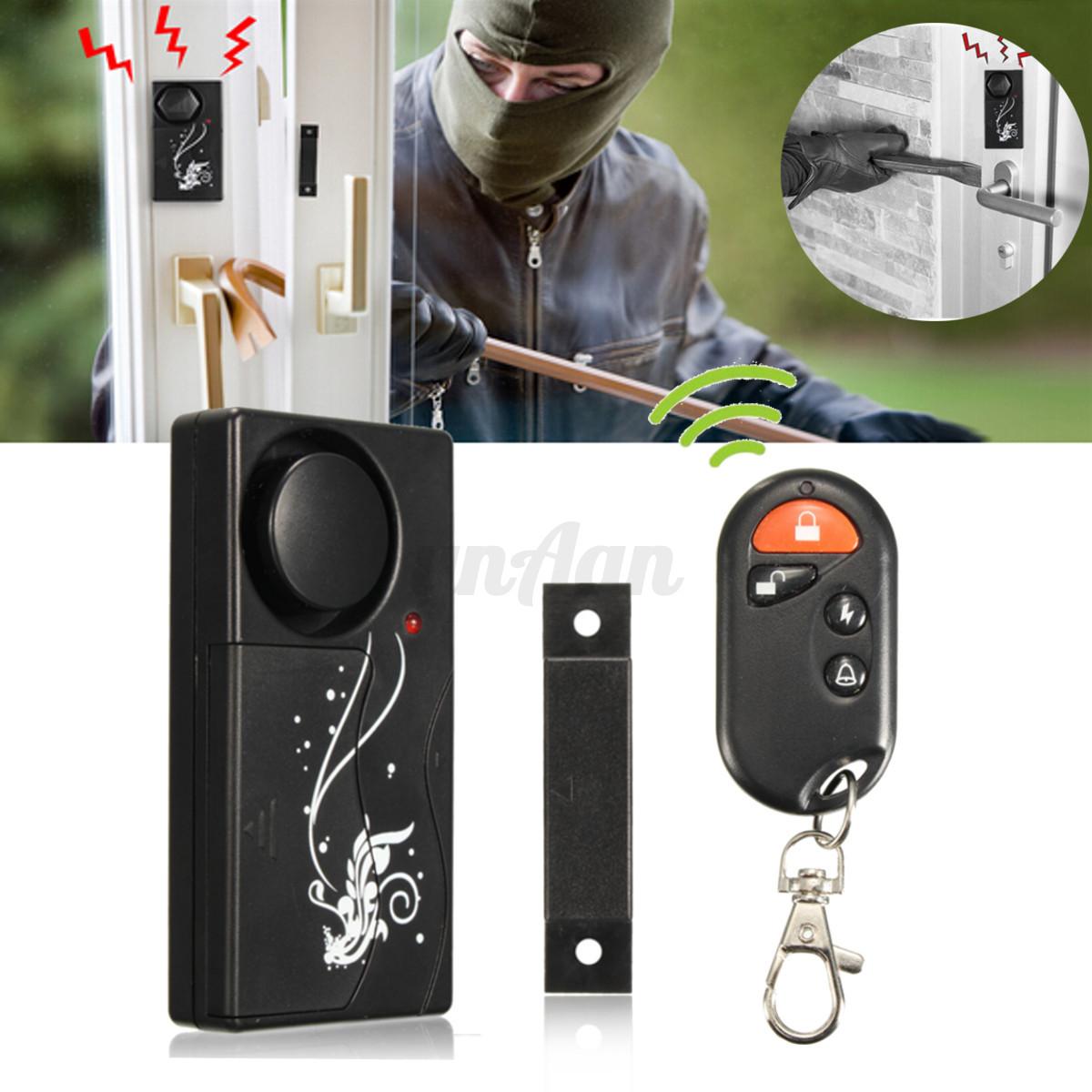 433mhz sans fil capteur alarme de s curit de porte fen tre magn tique maison ebay. Black Bedroom Furniture Sets. Home Design Ideas