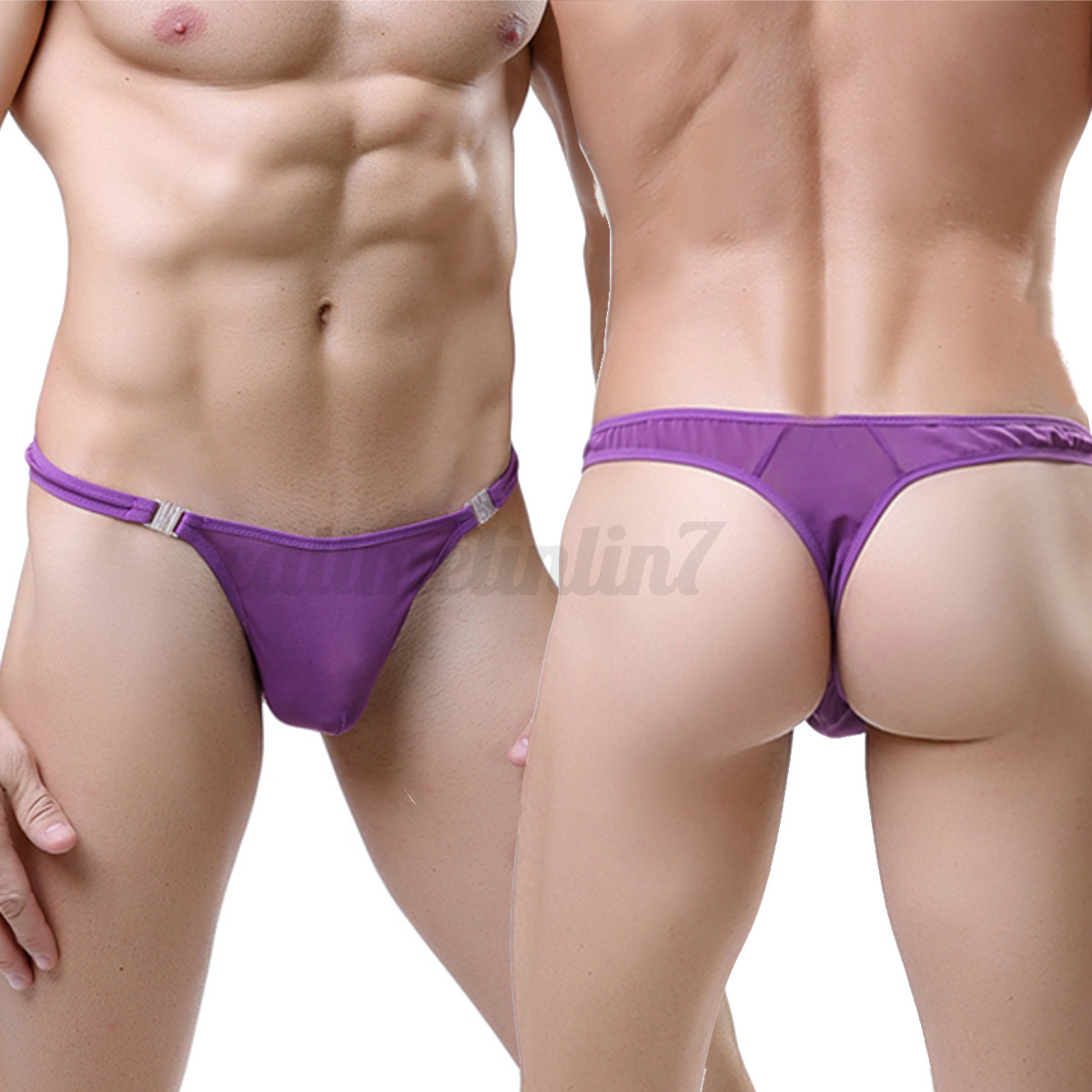 Hot Sexy Men Mesh Underwear See Through Underpant Thong G-string Boxers Briefs