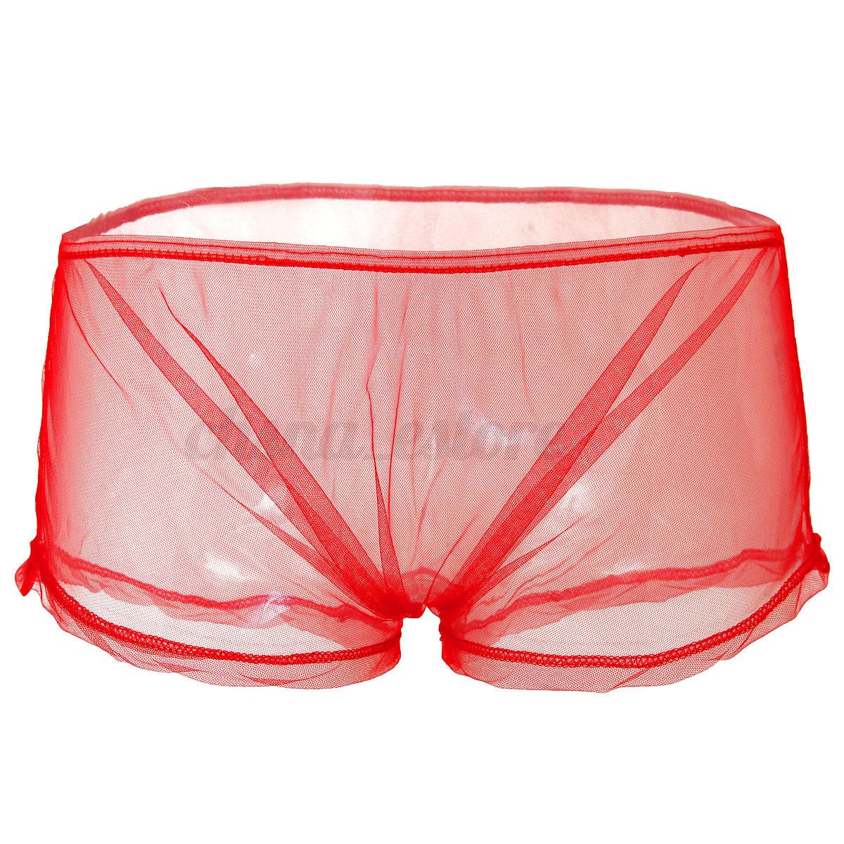 Calzoncillos hombres sexy ropa interior transparente boxer - Ropa interior hombre transparente ...