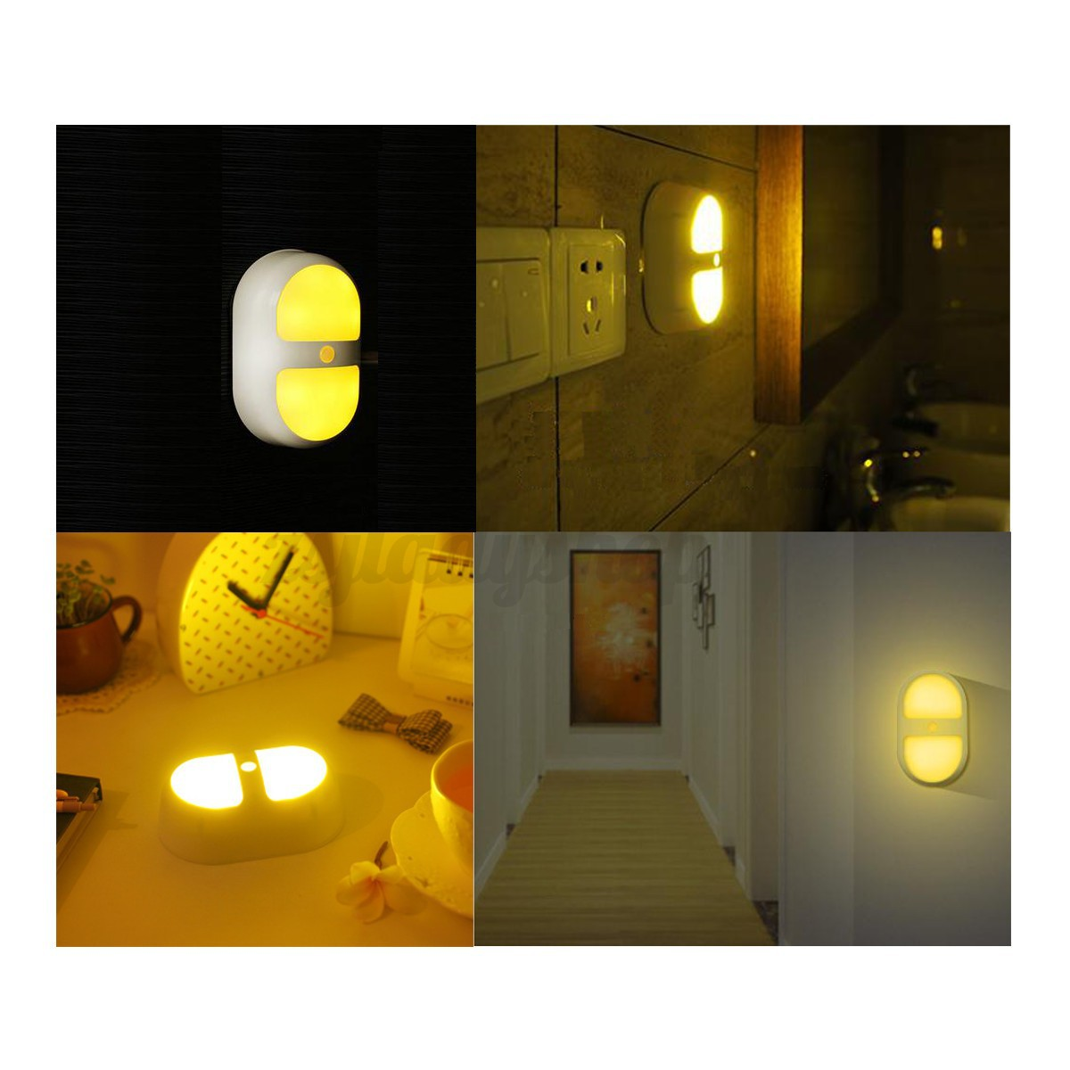 Sensor night light wireless led human motion lamp ceiling for Bedroom night light