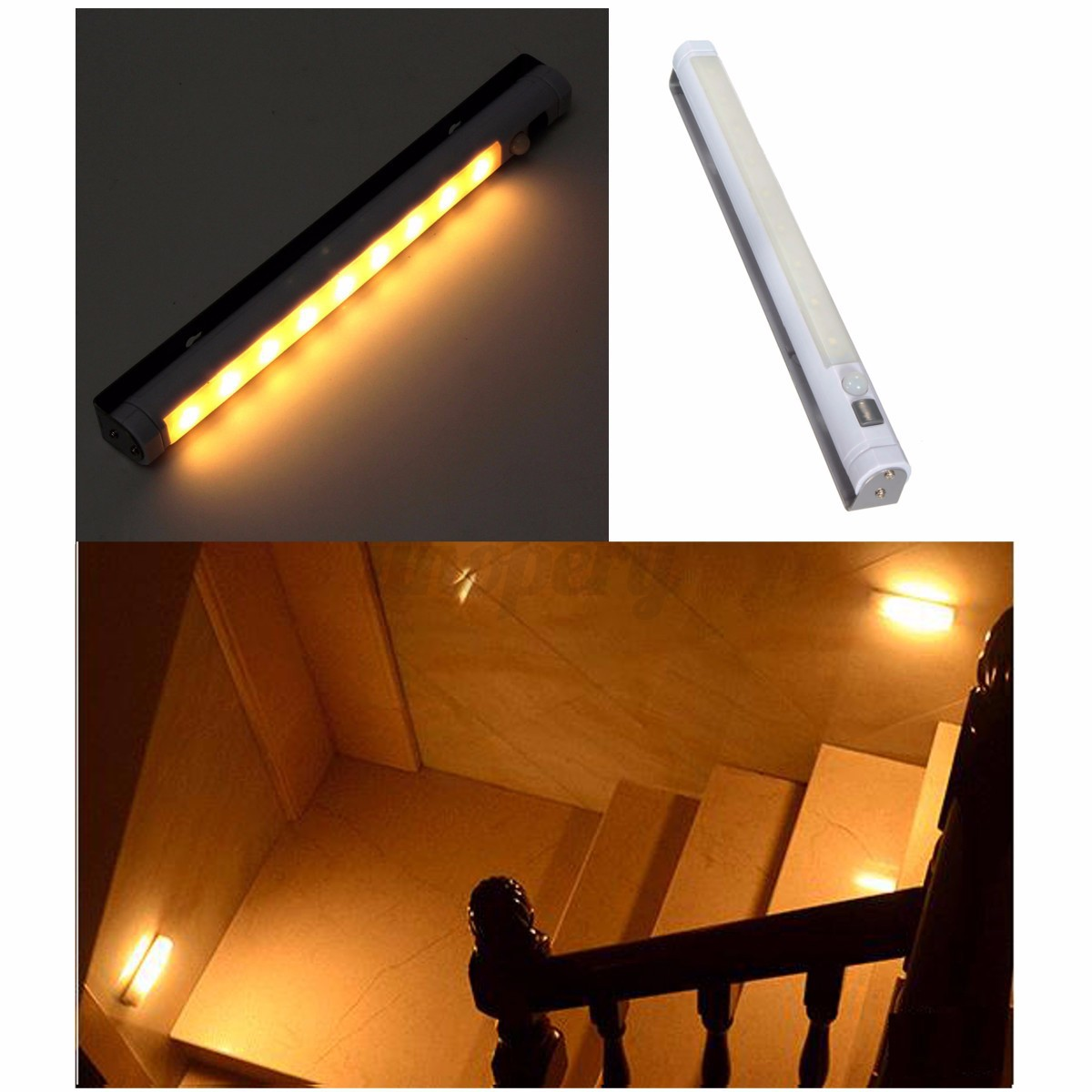 Lighting Basement Washroom Stairs: Wireless PIR LED Motion Sensor Infrared Night Light