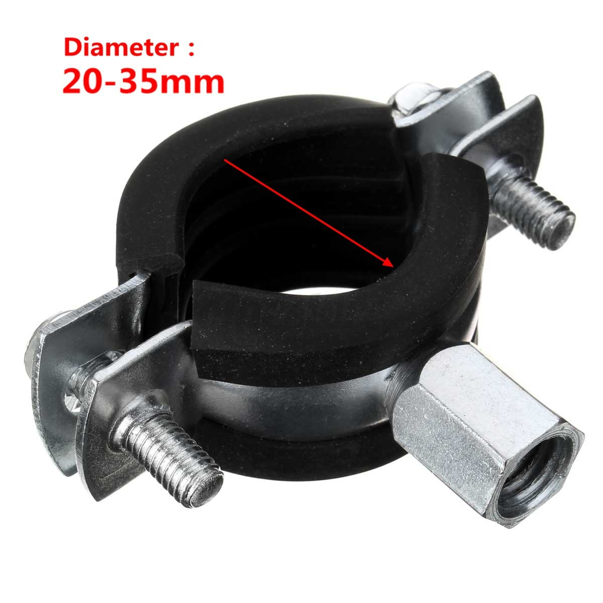 Rubber lined anti vibration pipe tube fixing clips clamps