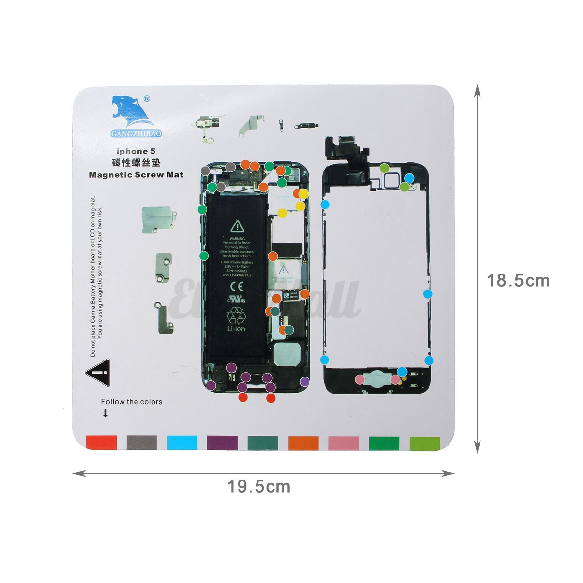 Iphone  Screw Size Chart