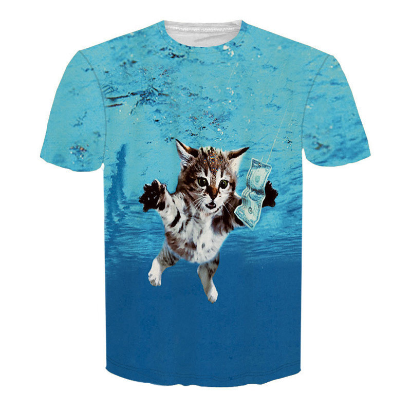Mens 3d animal t shirts funny short sleeve tee shirt tops for Animal tee shirts online