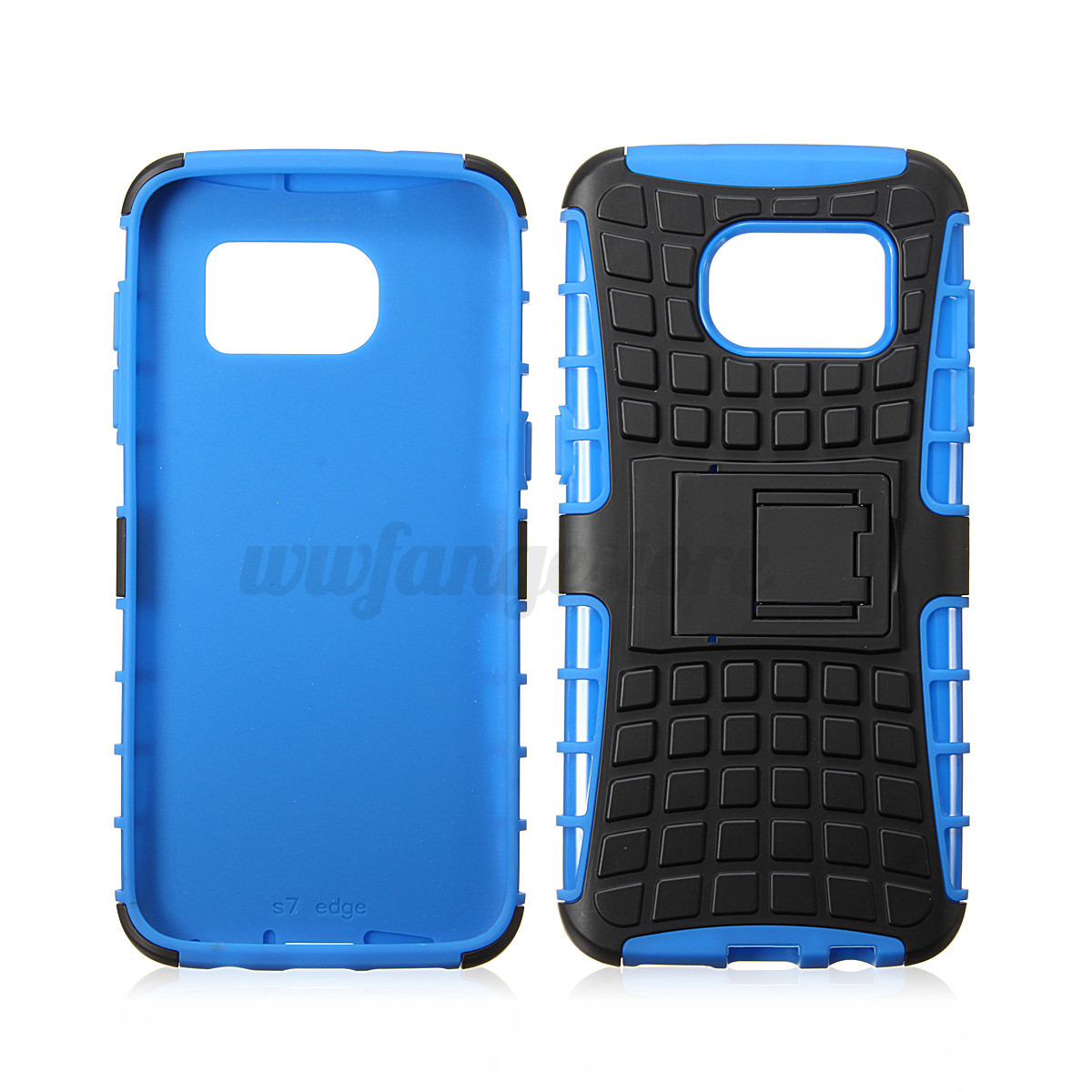 Double couche silicone pc etui coque housse support pour for Housse galaxy s7