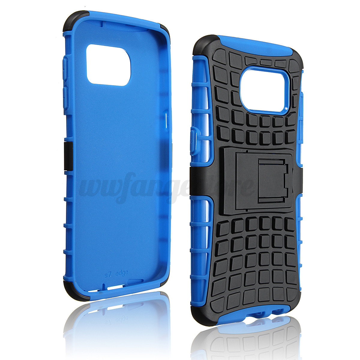 Double couche silicone pc etui coque housse support pour for Housse samsung s7