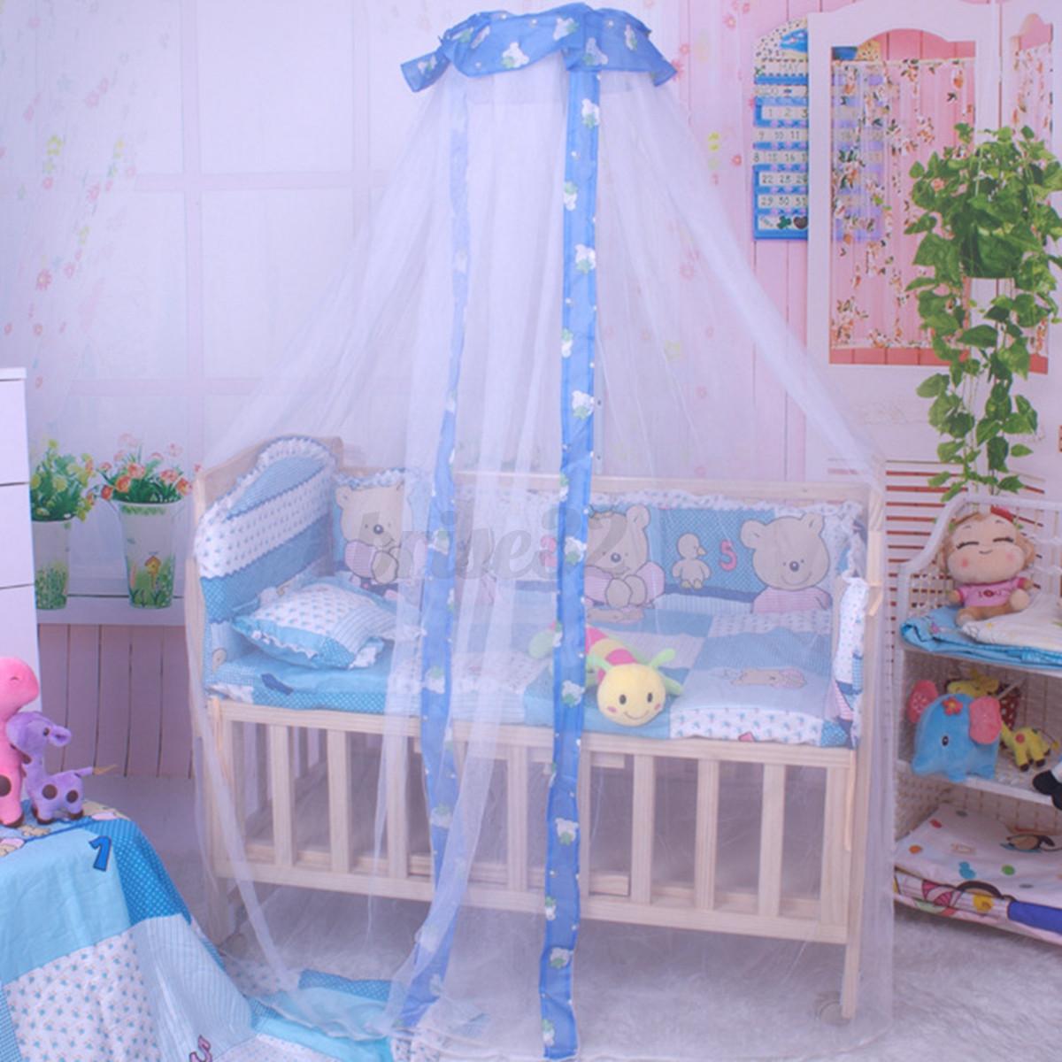 Baby-Infant-Nursery-Mosquito-Bedding-Crib-Canopy-Net- & Baby Infant Nursery Mosquito Bedding Crib Canopy Net Hanging Babe ...