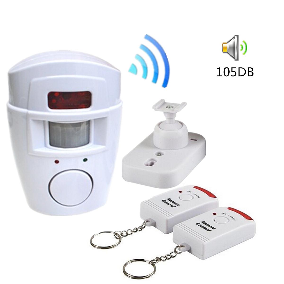 D tecteur de fum e incendie feu sans fil capteur alarme for Alarme feu maison