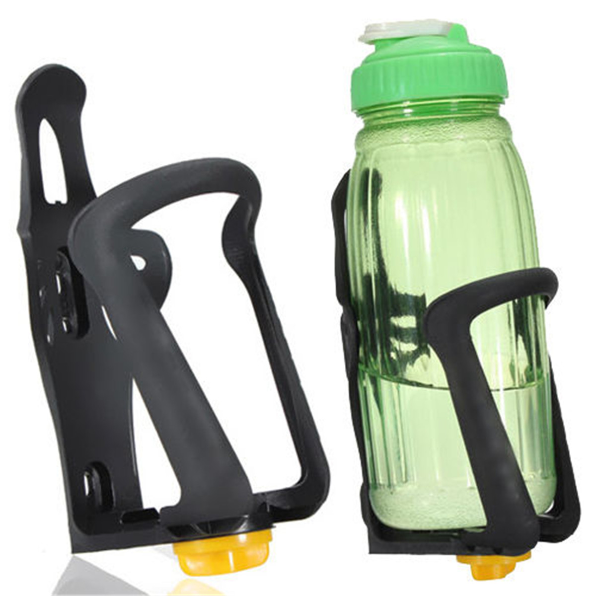 Water Bottle Bike Holder: Adjustable Bike Bicycle Plastic Drink Water Bottle Cup
