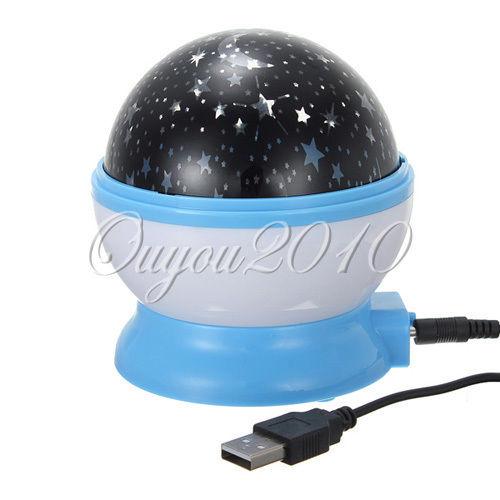 Projecteur boule rotation lumi re ciel nuit etoile veilleuse led chambre enfant ebay for Projecteur lumiere maison