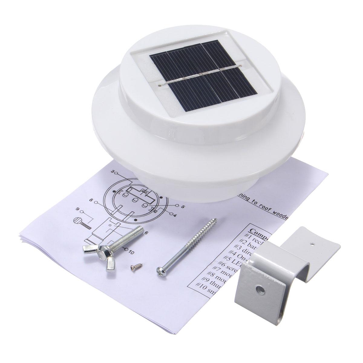 Solaire 3 LED Lampe Murale Capture Mouvement Détecteur Maison Jardin Extérieur