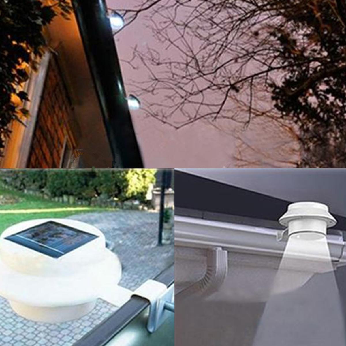 3 led lampe solaire projecteur fence eclairage lumiere. Black Bedroom Furniture Sets. Home Design Ideas