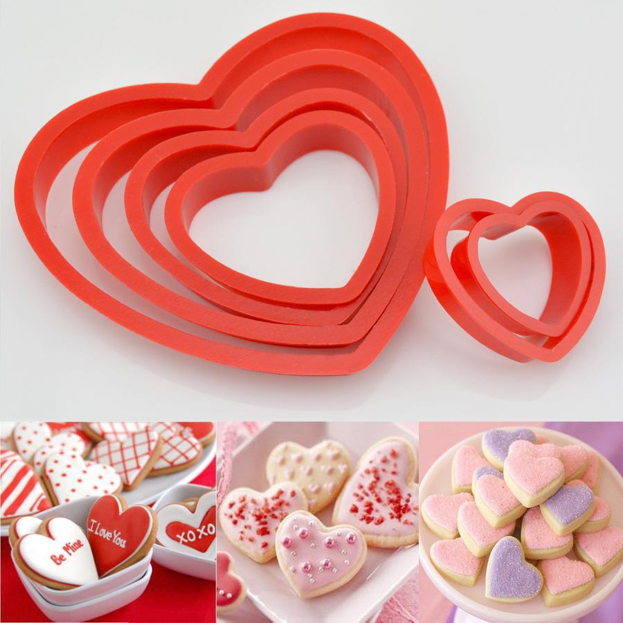 6 pcs emporte pi ces patisserie coeur d coupe p te biscuit moule g teau cuisi - Paypal paiement differe ...