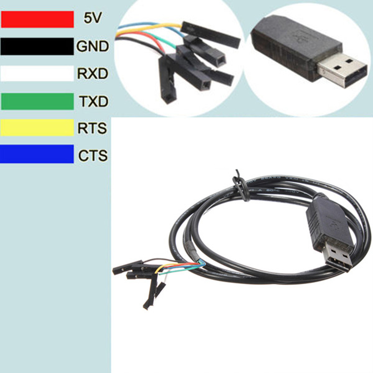 Arduino Ftdi Usb Cable To Ttl Serial V Robotshop Schematic Pin Ft Rl Rs Adapter