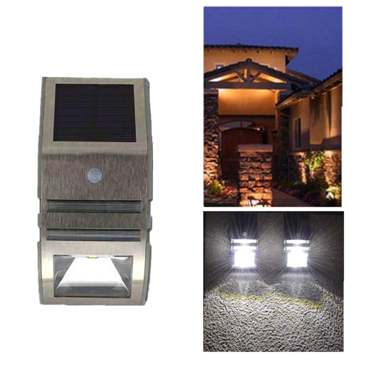Pir lampe led applique solaire d tecteur mouvement lumiere - Lumiere exterieur jardin ...