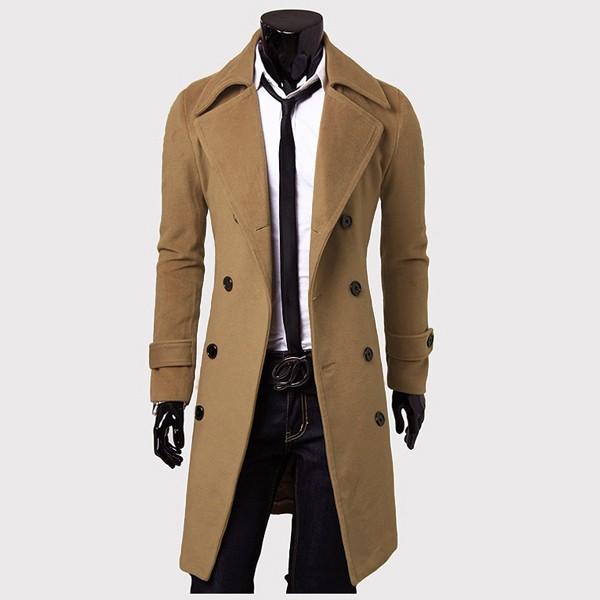 podom homme caban manteau pardessus long veste parka trench coat blouson double ebay. Black Bedroom Furniture Sets. Home Design Ideas