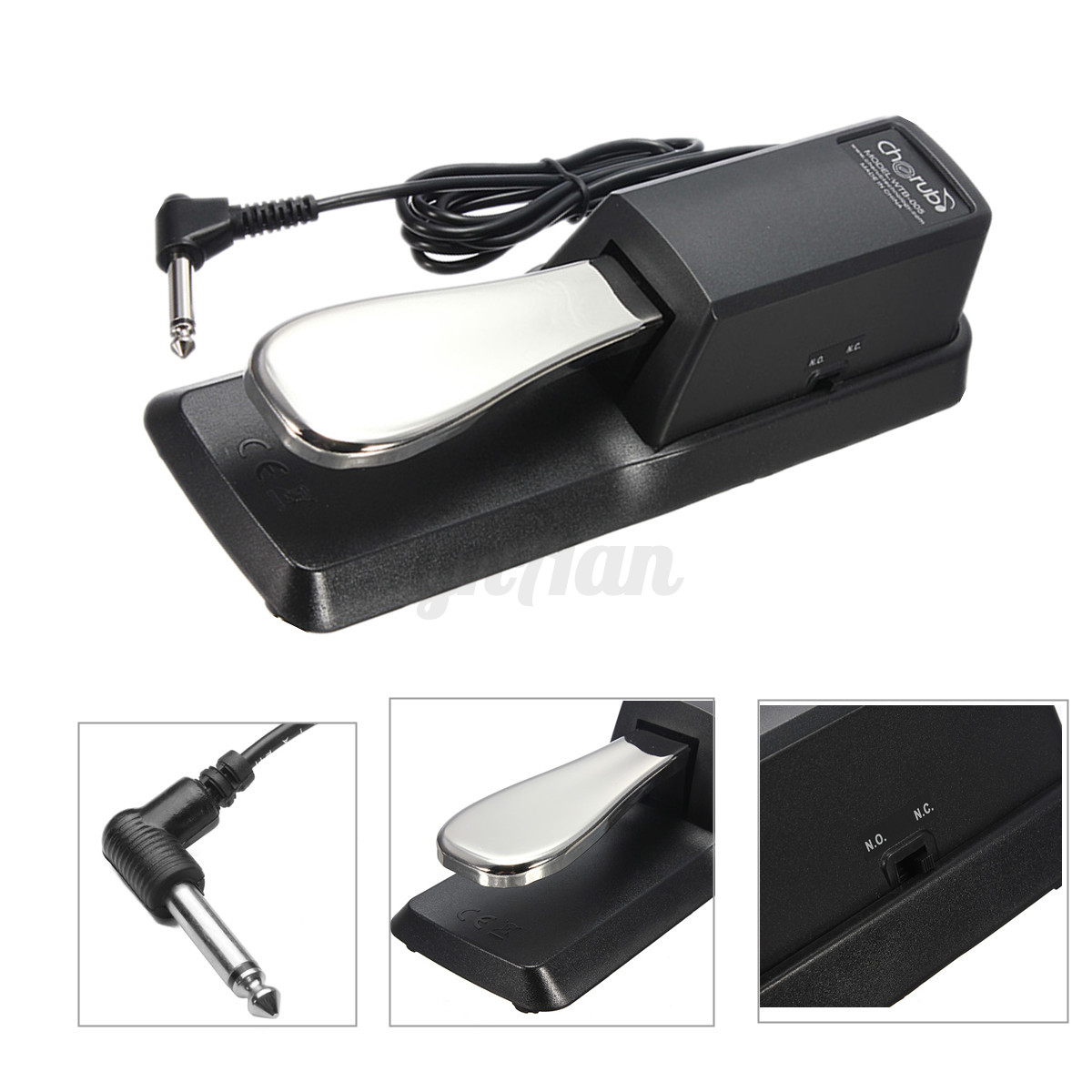 keyboard digital piano damper sustain foot pedal for yamaha casio roland korg ebay. Black Bedroom Furniture Sets. Home Design Ideas