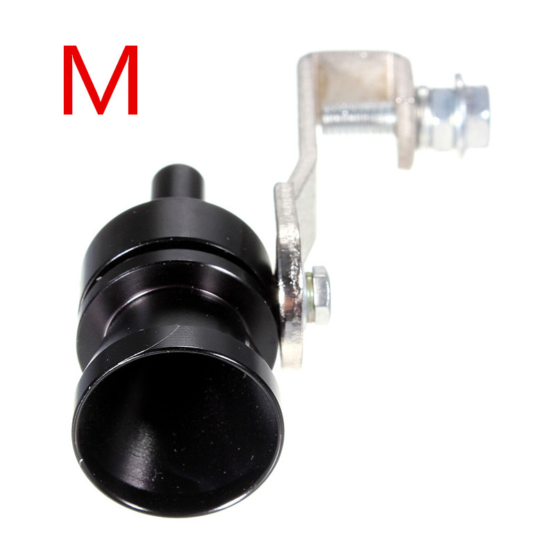 S M L XL Black Exhaust Fake Turbo Whistle Pipe Sound Muffler Blow Off Valve Bov