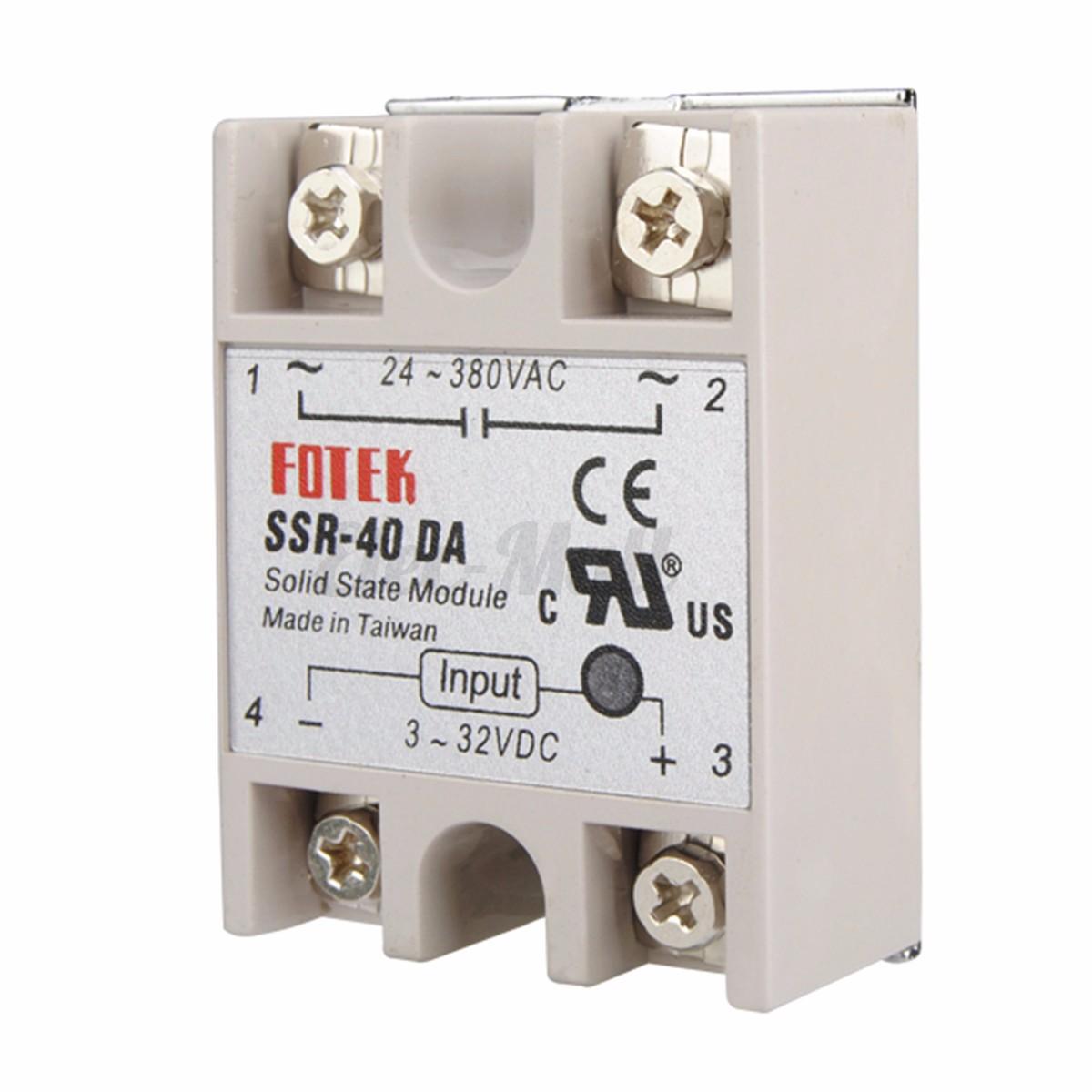 220V PID REX C100 Temperature Controller   max.40A SSR K Thermocouple #9E372D