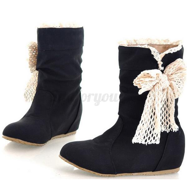 femme fille bottes bottines mi mollet chaussures hiver. Black Bedroom Furniture Sets. Home Design Ideas