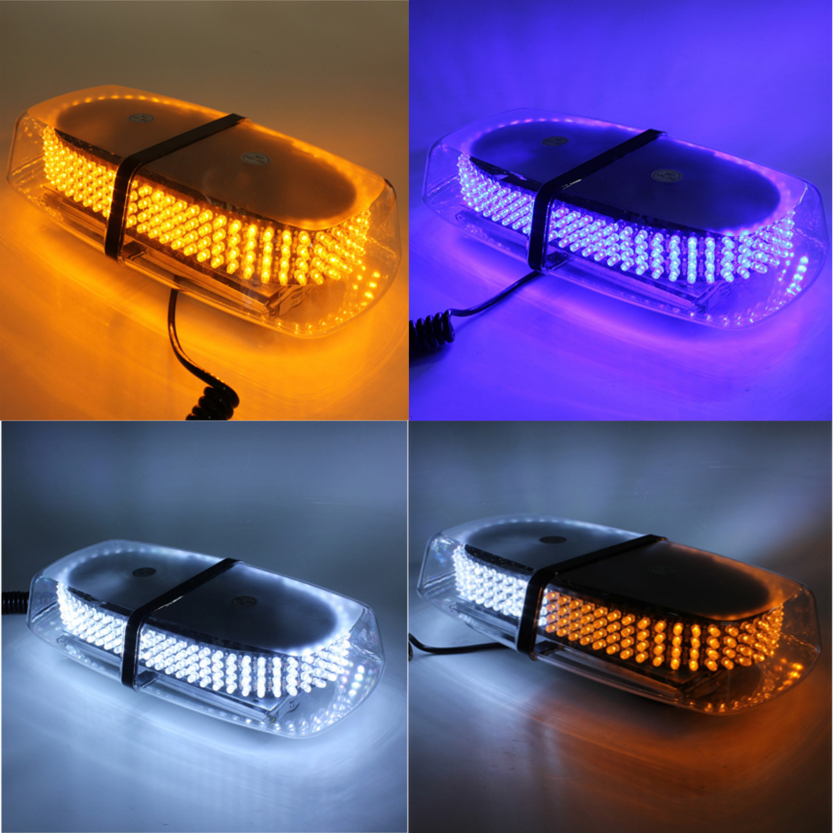 12v 2x4 amber blanc led voiture strobe clignotant feux urgence stroboscopique ebay. Black Bedroom Furniture Sets. Home Design Ideas
