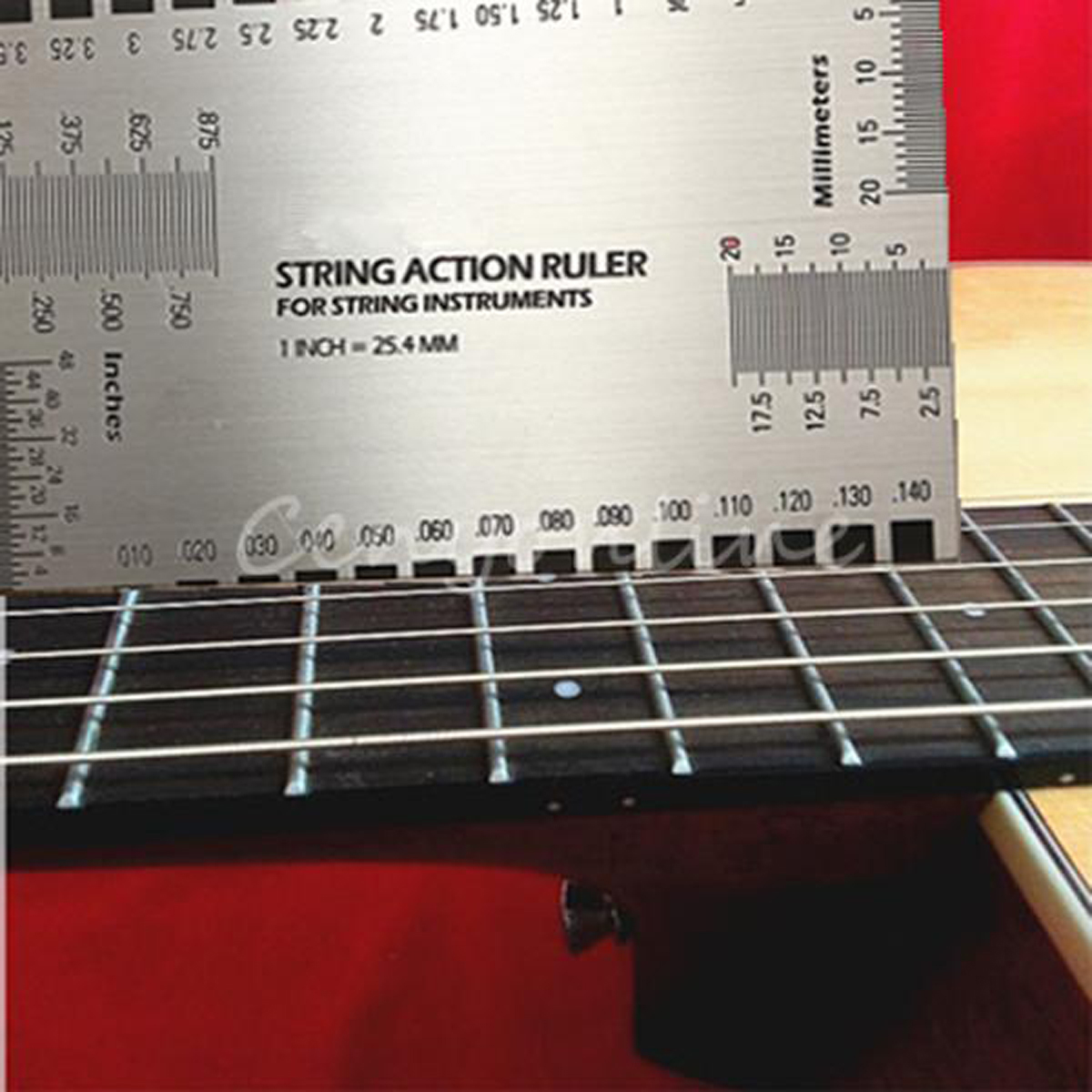 string action gauge ruler guide setup guitar measuring fork bass luthier tool ebay. Black Bedroom Furniture Sets. Home Design Ideas