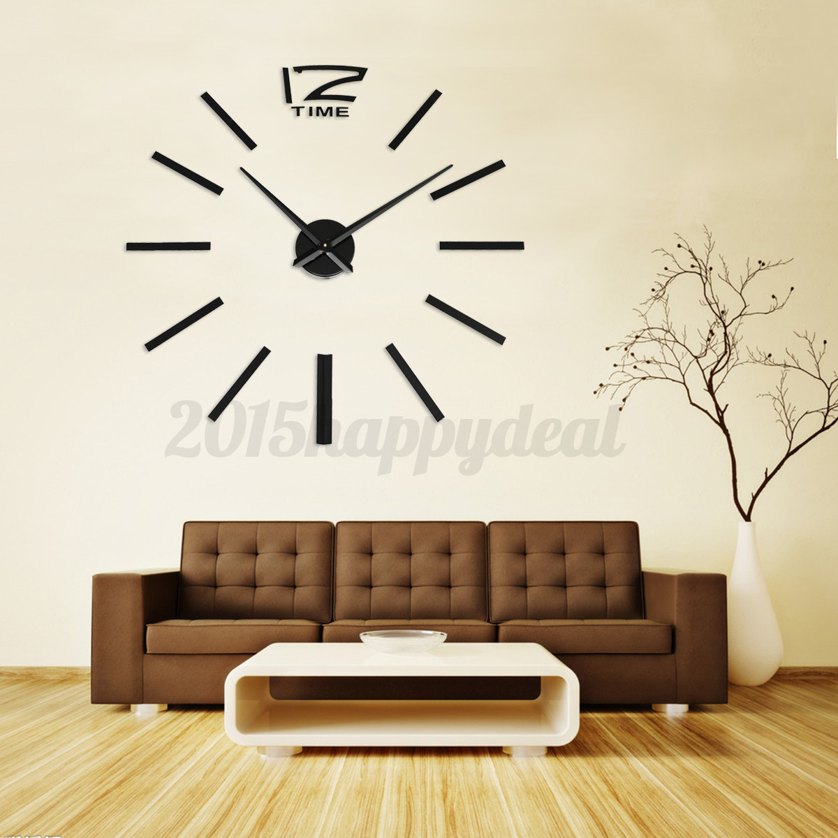 Hot 3d Diy Wall Clock Home Modern Decoration Crystal