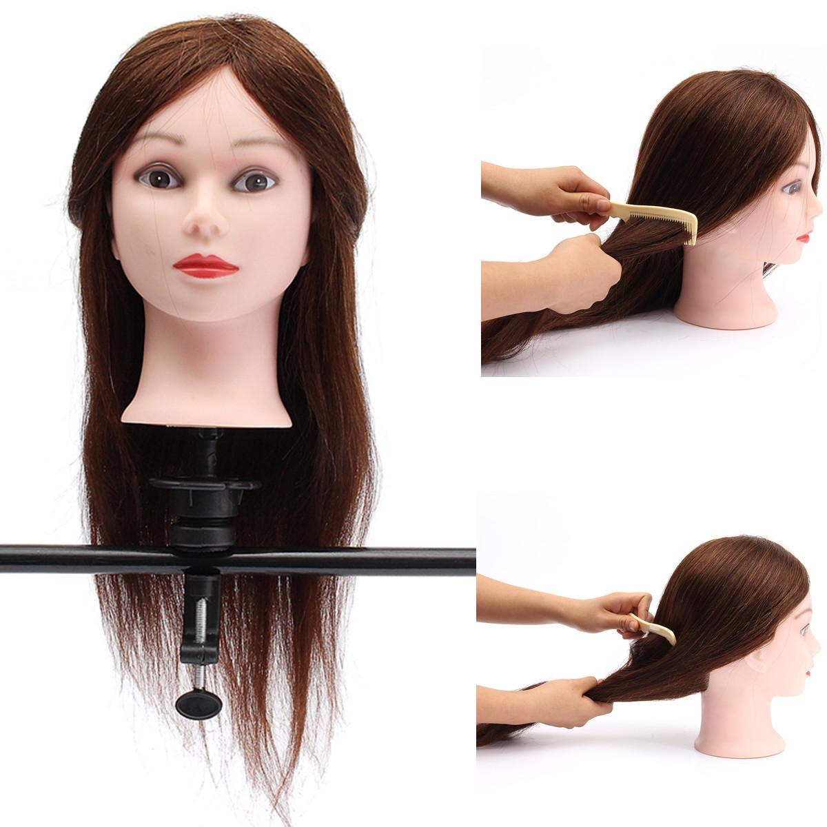 Salon real human hair salon hairdressing training head for Actual beauty salon