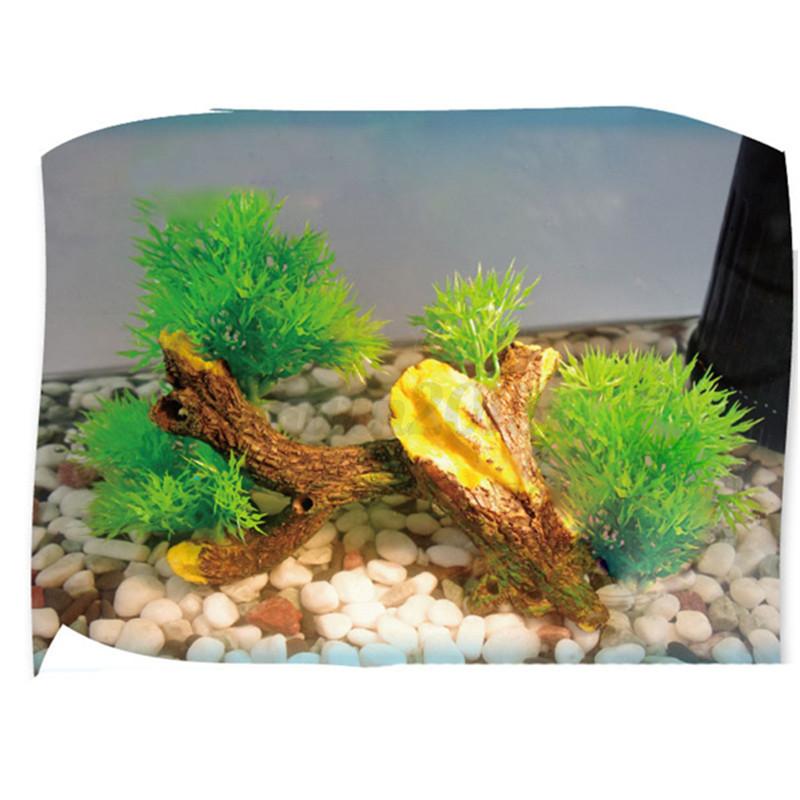 Plastic bonsai green tree aquarium ornament fish tank for Fish tank tree