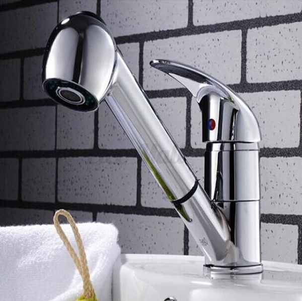Replacement chrome kitchen tap pullout spray shower head faucet sink bathroom ebay - Shower head for kitchen sink ...