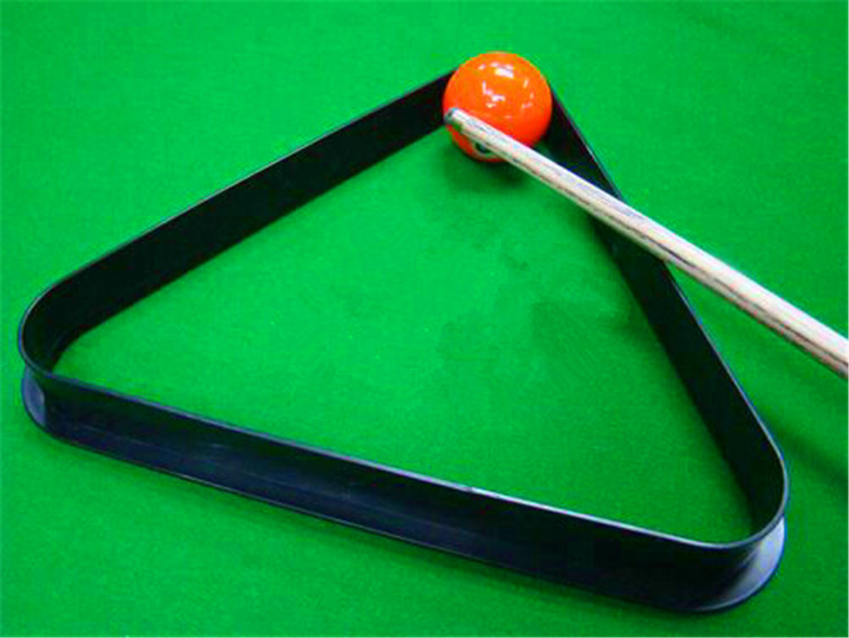 Plastic Snooker 12 Pool Ball Billiard Table Triangle Rack