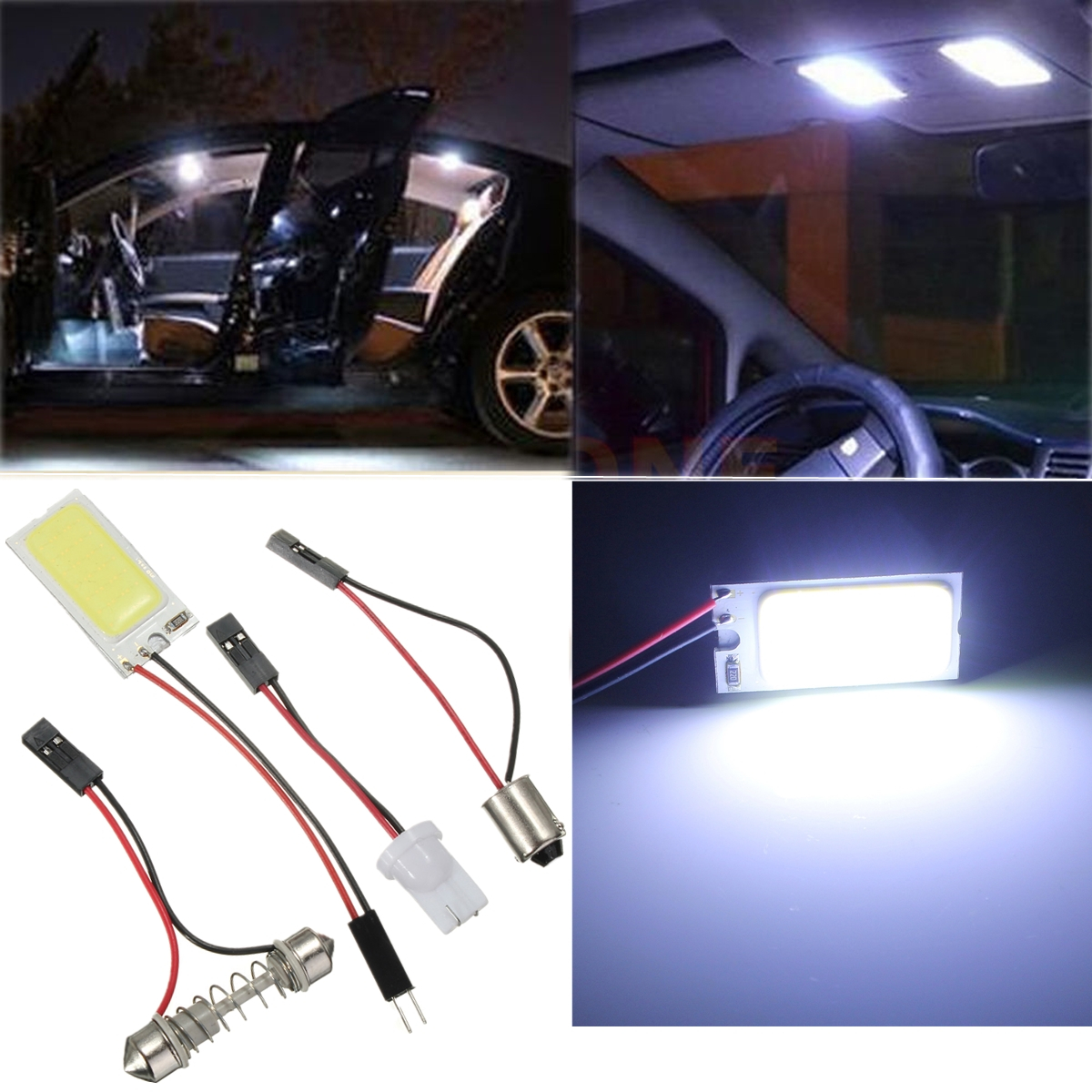 t10 ba9s led cob 21 chip panneau panel feux festoon d me ampoule voiture blanc ebay. Black Bedroom Furniture Sets. Home Design Ideas