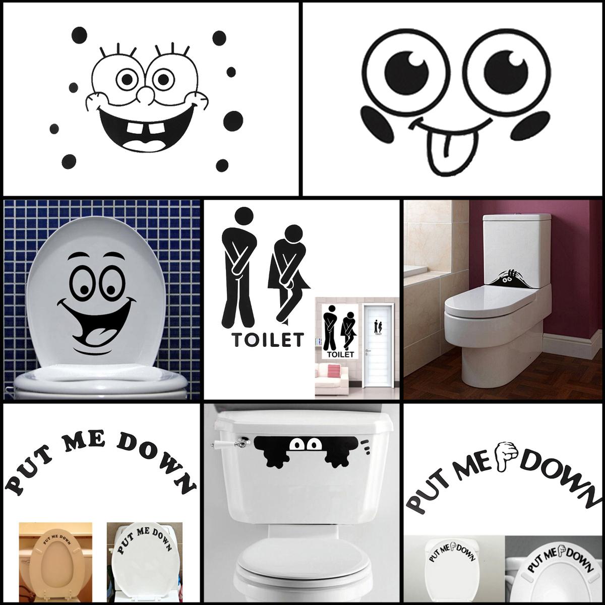 Sticker sutocollant sbattant mural d cor adh sif pr toilette wc cafe h tel bars - Object deco wc ...