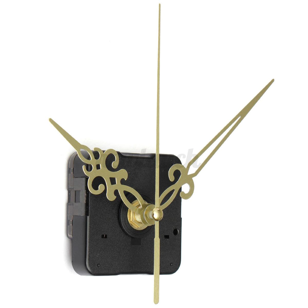gold quartz clock hands silent diy black wall movement