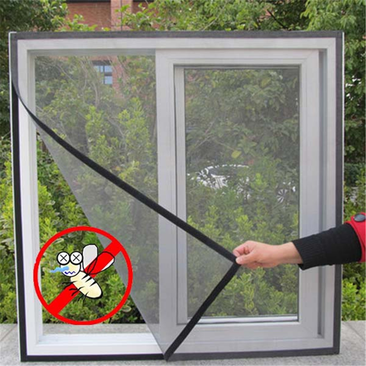 Window insect screen mesh net bug fly mosquito netting for Window mesh screen