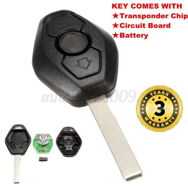 Remote Key Entry Fob Transmitter Uncut Blade For Bmw X3 X5