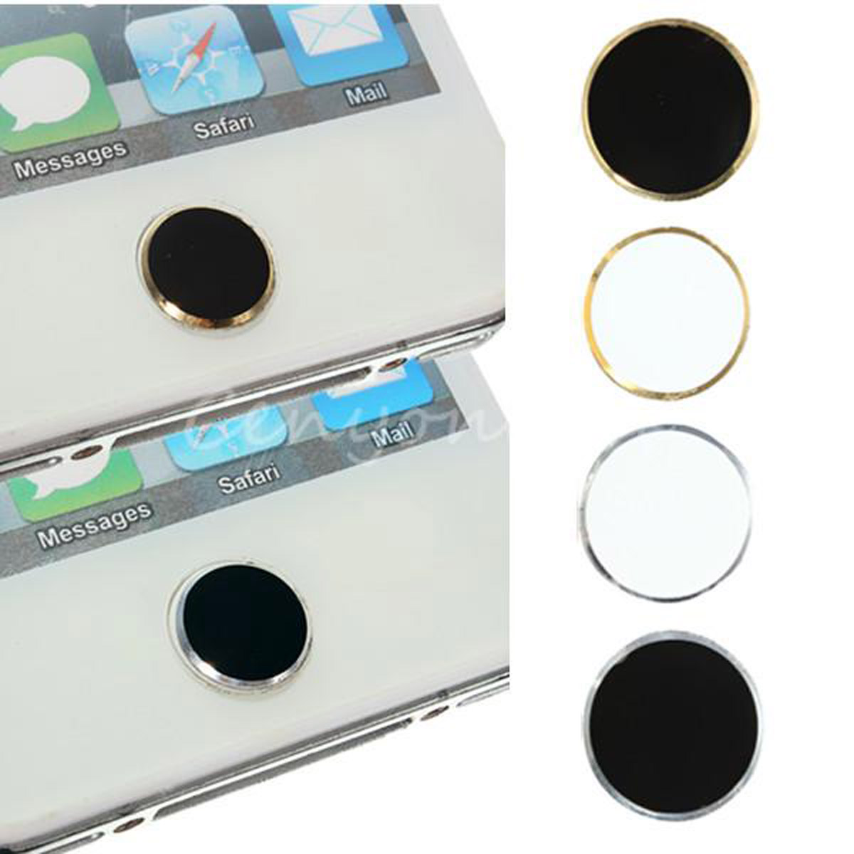 4 types aluminium home button sticker metal for apple iphone ipod touch ipad us ebay. Black Bedroom Furniture Sets. Home Design Ideas