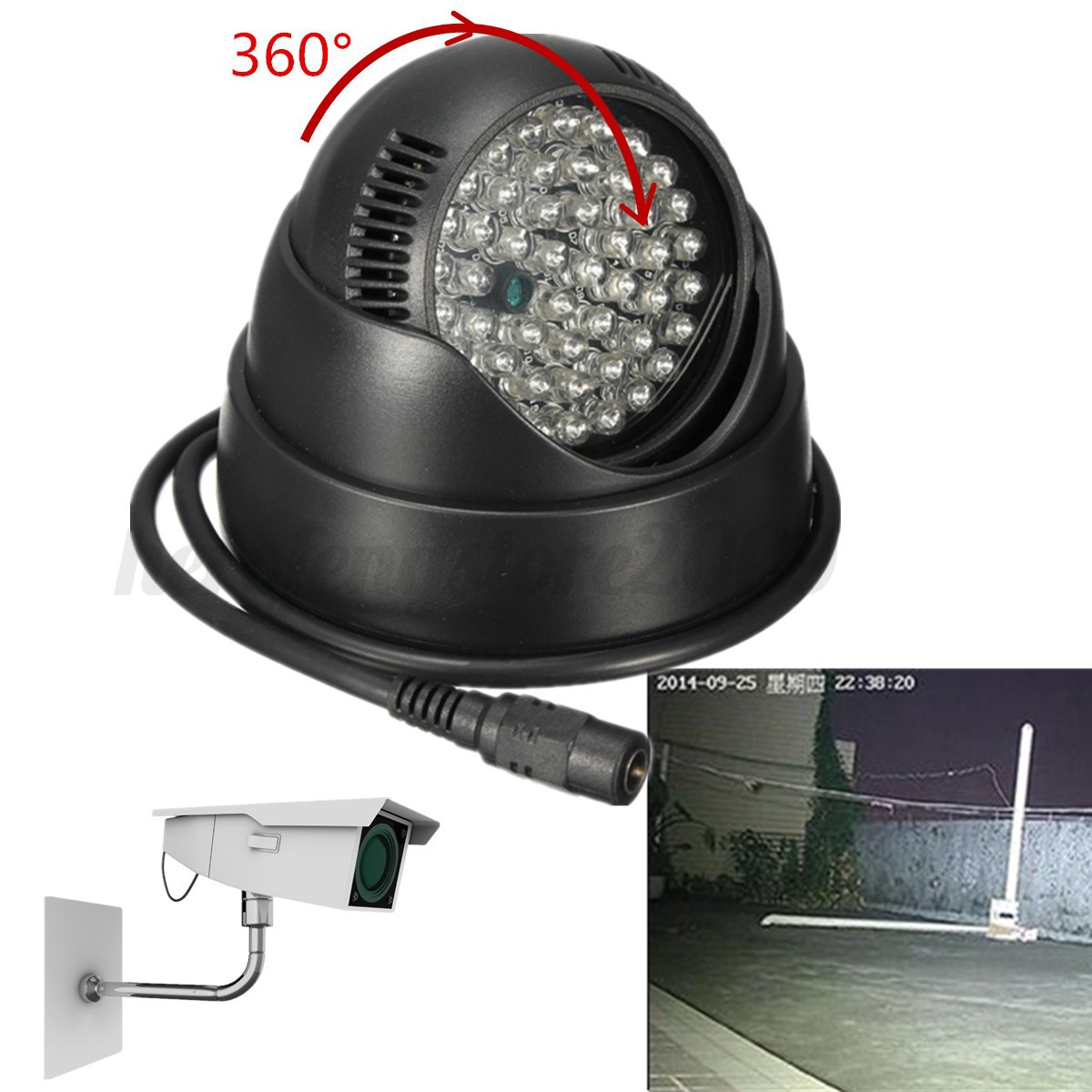 ir infrared night vision light lamp for security camera cctv. Black Bedroom Furniture Sets. Home Design Ideas