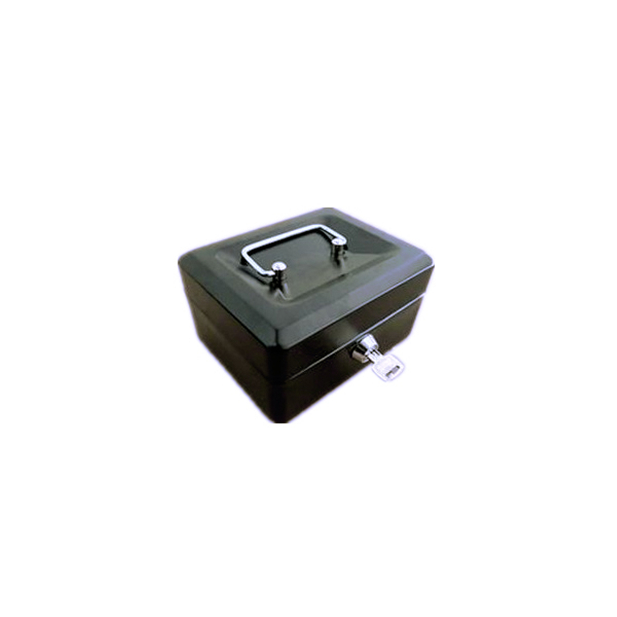 Metal Lock Latch Steel Petty Cash Money Box Removable Tray Holder Security Safe