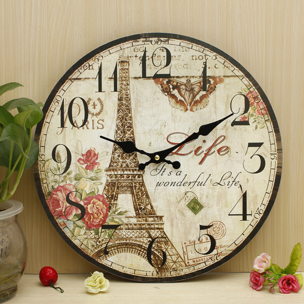Shabby Chic Kitchen Wall Decor: Large Vintage Antique Rustic Shabby Chic Wall Clock Home