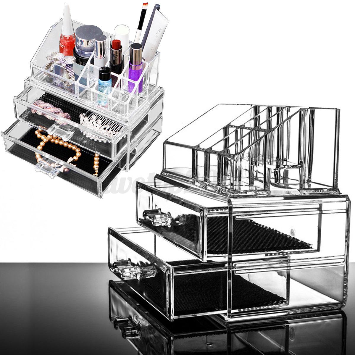 acryl kosmetik organizer mit schublade aufbewahrung. Black Bedroom Furniture Sets. Home Design Ideas